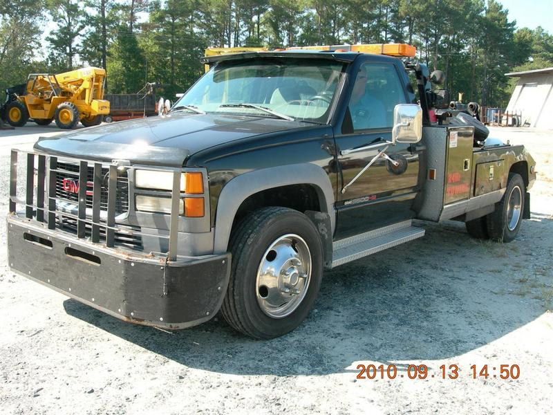 used 1998 gmc 3500hd wrecker tow truck for sale in md 1011. Black Bedroom Furniture Sets. Home Design Ideas