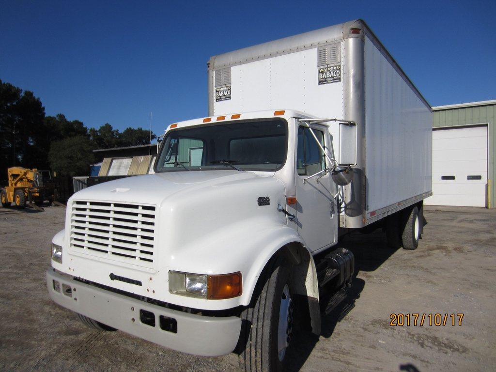 USED 1998 INTERNATIONAL 4700 BOX VAN TRUCK #1243