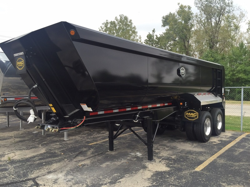 NEW 2017 MAC 24' QTR FRAME STEEL END DUMP TRAILER #285083