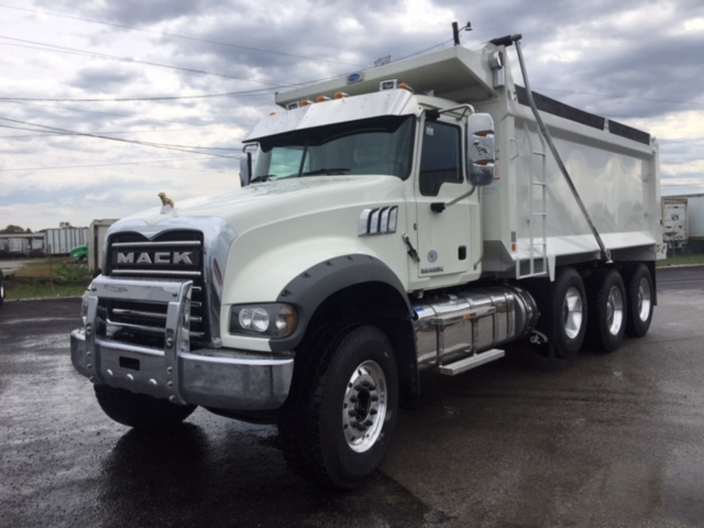 USED 2016 MACK GU713 TRI-AXLE STEEL DUMP TRUCK #287116