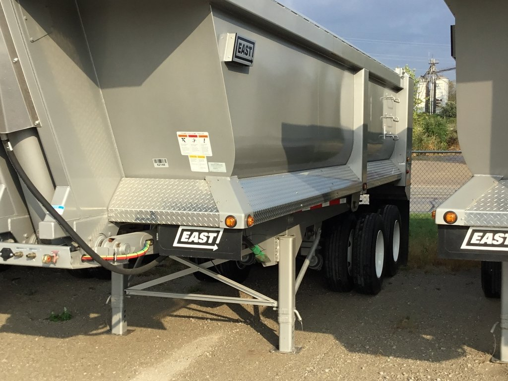 NEW 2018 EAST 24' STL 1/4FR END DUMP TRAILER #288721