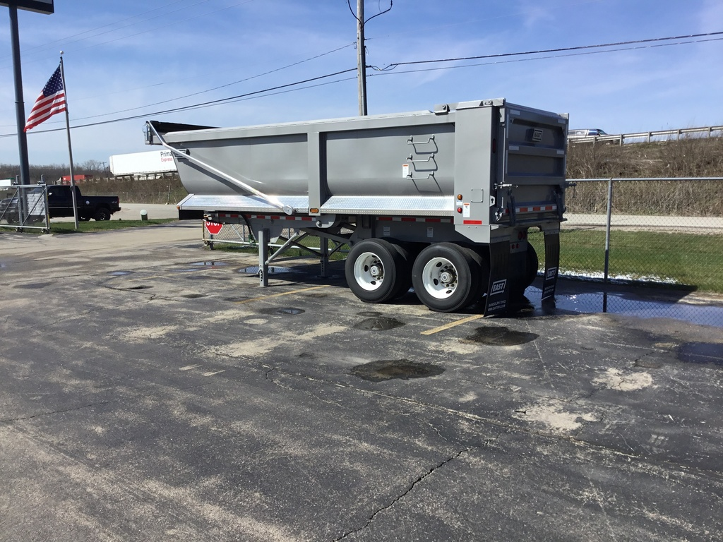 NEW 2018 EAST 24' STL 1/4FR END DUMP TRAILER #288723