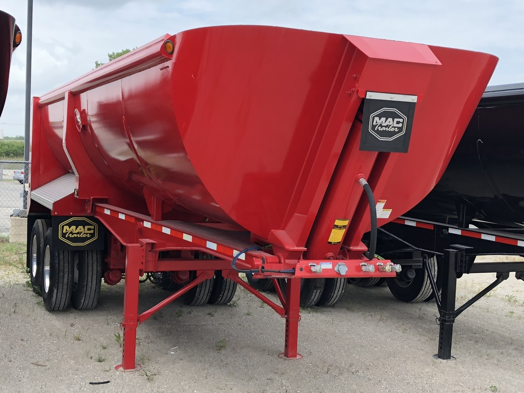 NEW 2018 MAC 24' STL 1/4 FRAME END DUMP TRAILER #288802