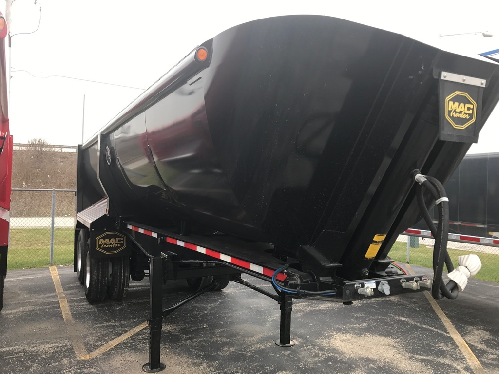 NEW 2018 MAC 24' STEEL QTR FRAME END DUMP TRAILER #288805