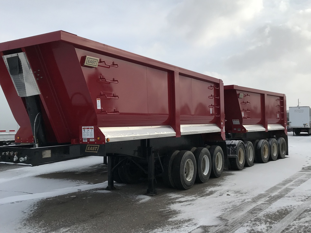 USED 1999 FRUEHAUF MI TRAIN END DUMP TRAILER #290330