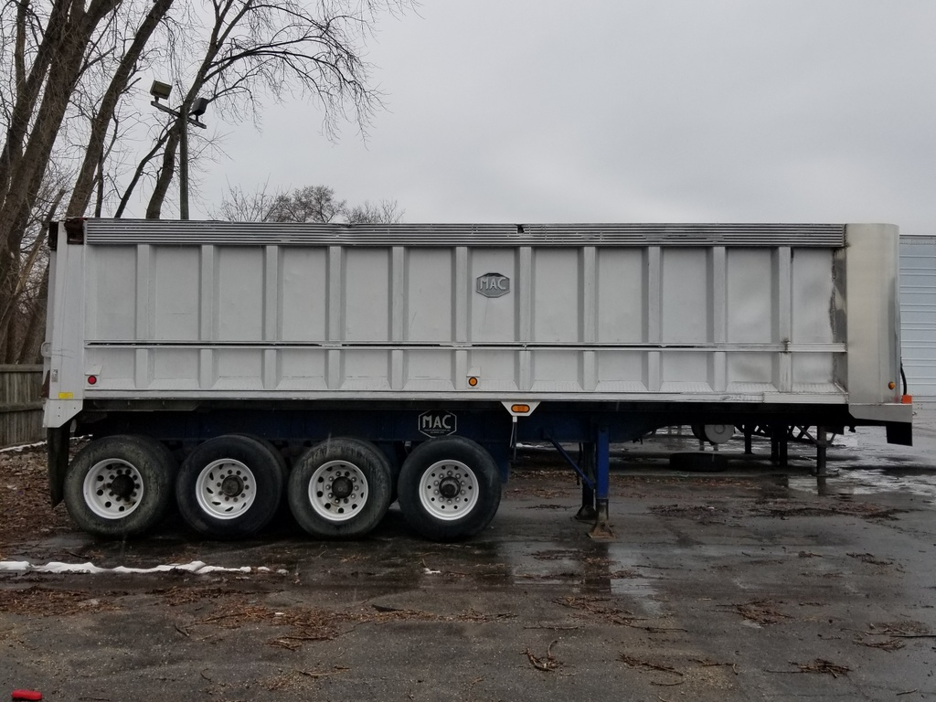 USED 1999 MAC QUAD AXLE END DUMP TRAILER #290751