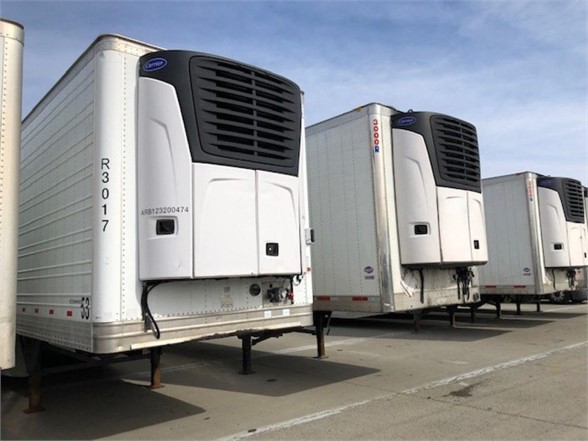 USED 2013 HYUNDAI REEFER (HIGH CUBE) REEFER TRAILER #8008
