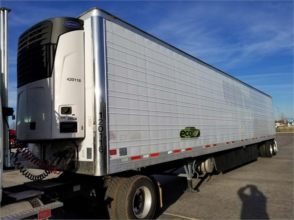 USED 2012 WABASH W/ SIDE SKIRTS AND NEW V REEFER TRAILER #8237