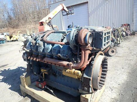 USED DETROIT DIESEL MTU 12V2000 COMPLETE ENGINE TRUCK PARTS #11627-3
