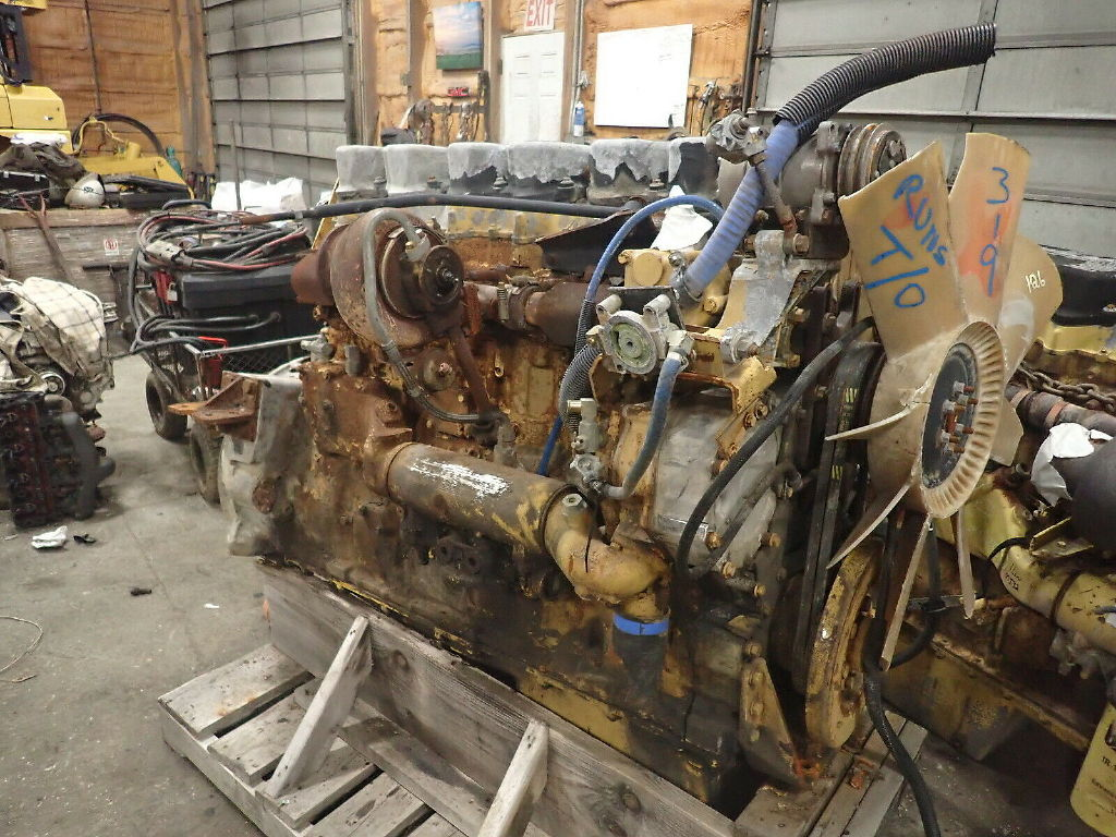 USED CAT C15 TURBO COMPLETE ENGINE TRUCK PARTS #11691