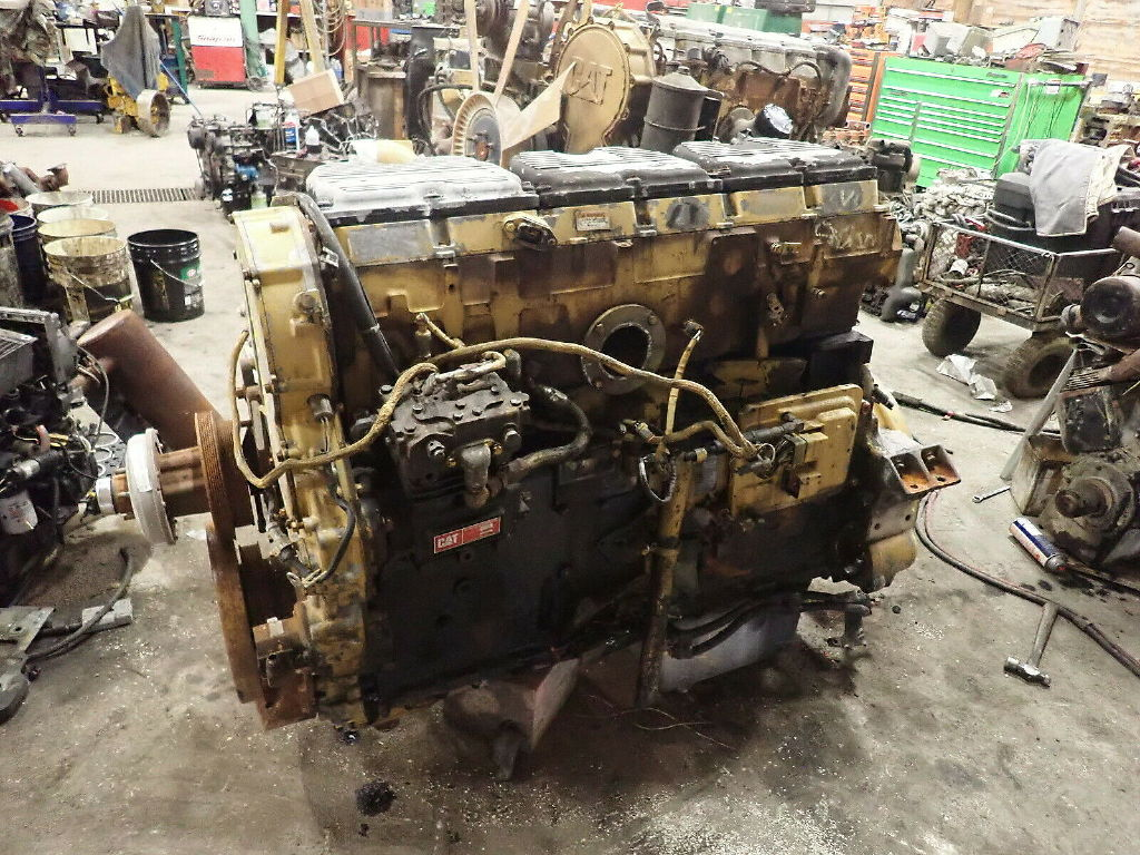 USED CAT 3406E COMPLETE ENGINE TRUCK PARTS #11692