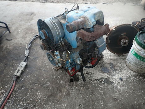 USED DEUTZ F2L511 COMPLETE ENGINE TRUCK PARTS #11726-1