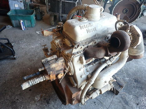 USED DETROIT DIESEL 3-53 TURBO COMPLETE ENGINE TRUCK PARTS #11788-2