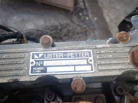 USED LISTER PETTER LPW3 COMPLETE ENGINE TRUCK PARTS #11955-5