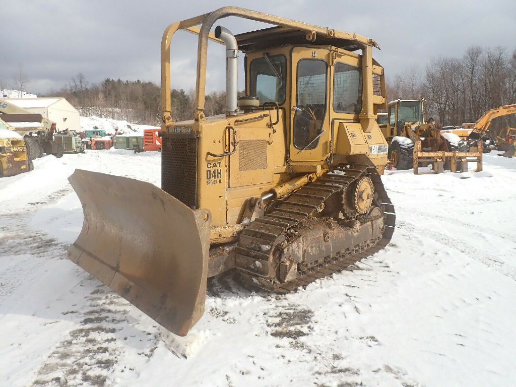 USED 1987 CAT D4H SERIES II CRAWLER DOZER EQUIPMENT #12217