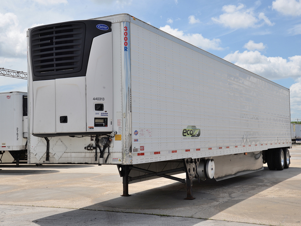 USED 2014 UTILITY 3000R WIDEBASE TIRES REEFER TRAILER #14621