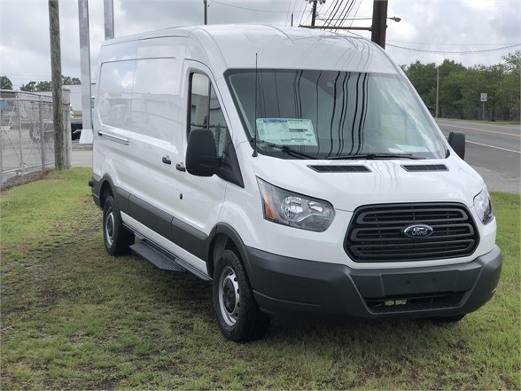 USED 2018 FORD TRANSIT BOX VAN TRUCK #1348