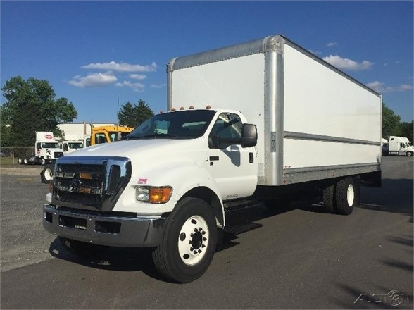 USED 2015 FORD F650 XL SD BOX VAN TRUCK #1384