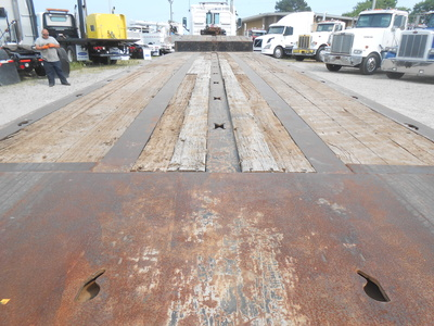 USED 2008 TALBERT 50 TON TRAVEL AXLE TRAILER #6596-11