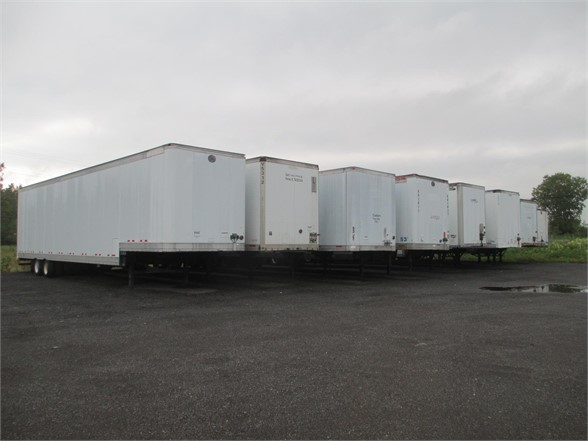 USED 2000 WABASH STORAGE VAN TRAILER #1268