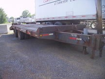 USED 1989 INTERSTATE EQUIPMENT TRAILER FLATBED TRAILER #8316-2