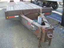 USED 1989 INTERSTATE EQUIPMENT TRAILER FLATBED TRAILER #8316-3