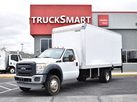 USED 2015 FORD F550 BOX VAN TRUCK #12519