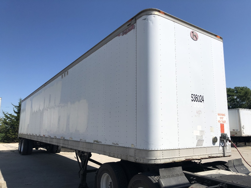 USED 1991 GREAT DANE SHEET AND POST VAN TRAILER #1004