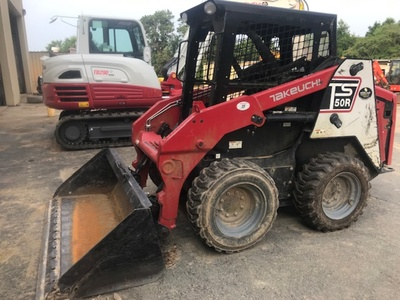 USED 2014 OTHER TAKEUCHI TS50V SKID STEER WHEEL LOADER EQUIPMENT #3622-3