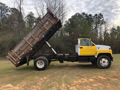 USED 1996 CHEVROLET C7H042 FLATBED DUMP TRUCK #3770-1