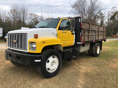 USED 1996 CHEVROLET C7H042 FLATBED DUMP TRUCK #3770-2