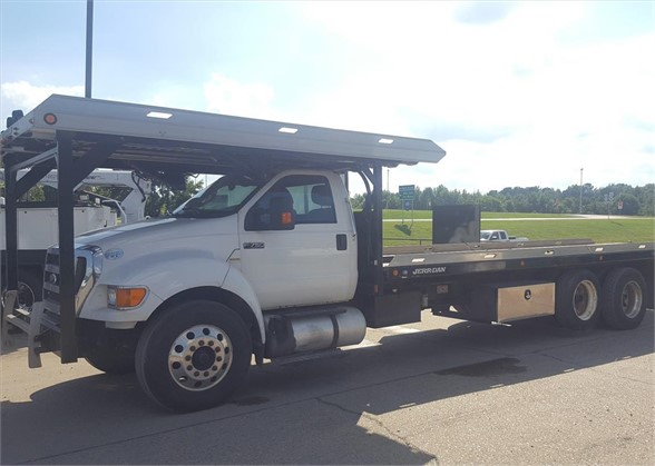 USED 2012 FORD F750 ROLLBACK TOW TRUCK #1590