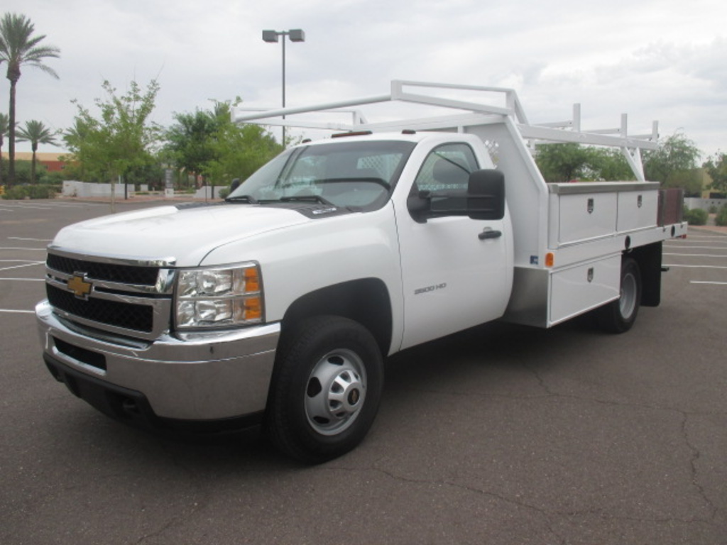 USED 2012 CHEVROLET SILVERADO 3500HD FLATBED TRUCK #2230