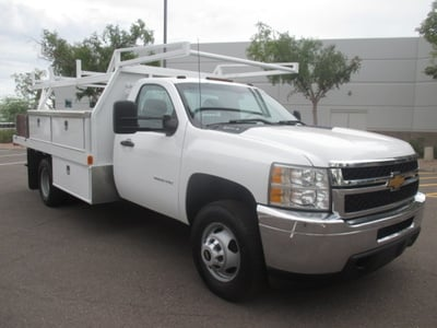 USED 2012 CHEVROLET SILVERADO 3500HD FLATBED TRUCK #2230-2