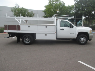 USED 2012 CHEVROLET SILVERADO 3500HD FLATBED TRUCK #2230-3