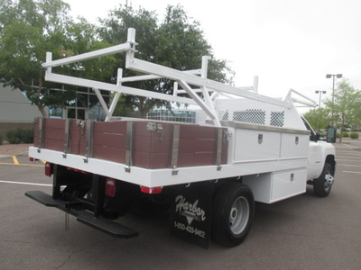 USED 2012 CHEVROLET SILVERADO 3500HD FLATBED TRUCK #2230-4