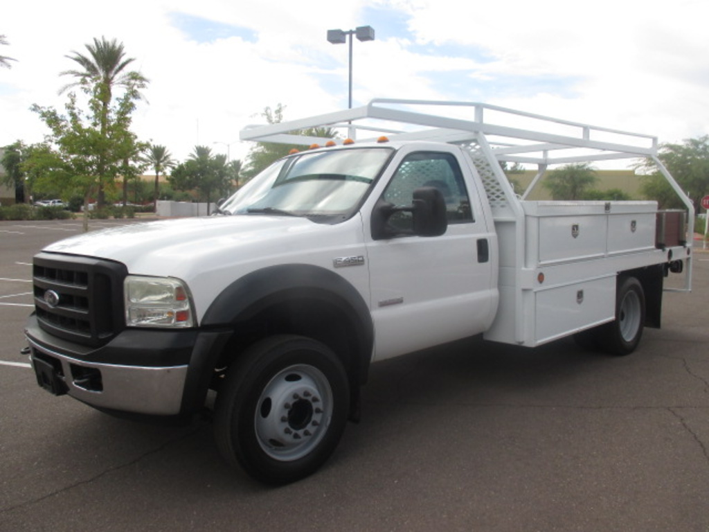 USED 2006 FORD F450 FLATBED TRUCK #2251