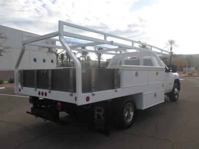 USED 2008 CHEVROLET SILVERADO 3500HD FLATBED TRUCK #2290-4