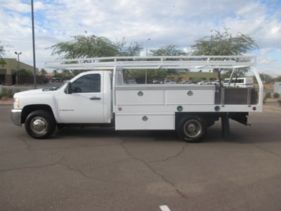 USED 2008 CHEVROLET SILVERADO 3500HD FLATBED TRUCK #2290-6