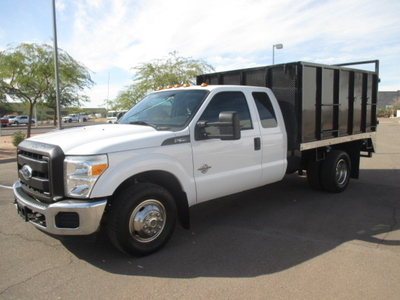USED 2012 FORD F350 BOX DUMP TRUCK #2297-1