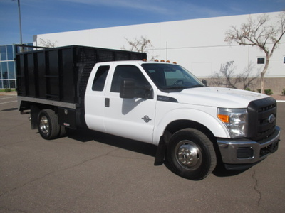 USED 2012 FORD F350 BOX DUMP TRUCK #2297-2