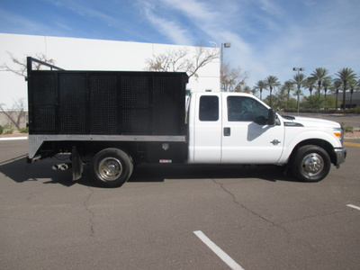 USED 2012 FORD F350 BOX DUMP TRUCK #2297-3