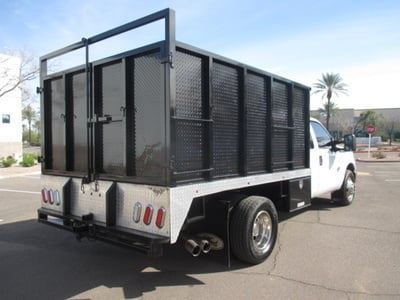 USED 2012 FORD F350 BOX DUMP TRUCK #2297-4