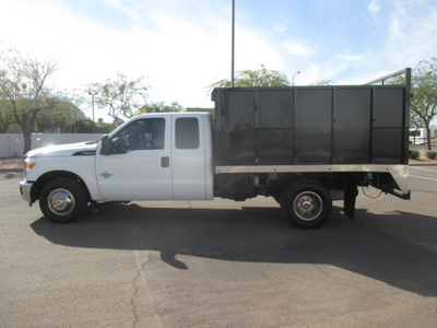 USED 2012 FORD F350 BOX DUMP TRUCK #2297-6