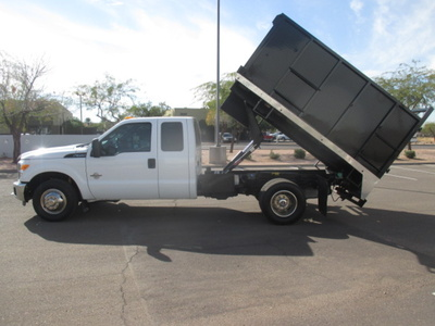 USED 2012 FORD F350 BOX DUMP TRUCK #2297-7