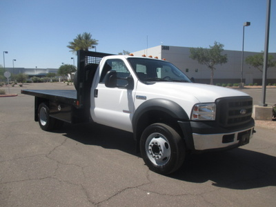 USED 2006 FORD F550 FLATBED TRUCK #2335-2