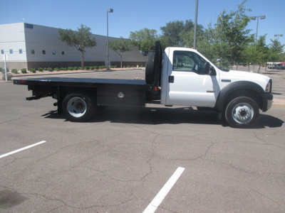 USED 2006 FORD F550 FLATBED TRUCK #2335-3