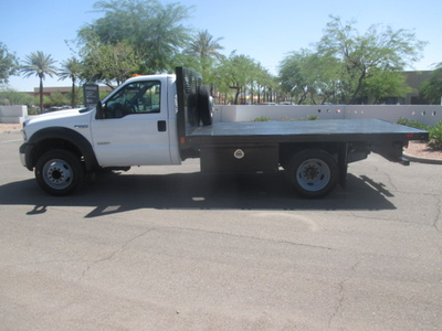 USED 2006 FORD F550 FLATBED TRUCK #2335-6