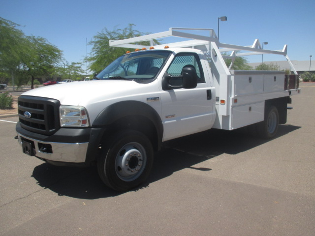 USED 2007 FORD F450 FLATBED TRUCK #2337