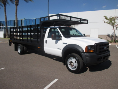 USED 2007 FORD F550 STAKE BODY TRUCK #2378-2